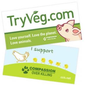 Free TryVeg Bumper Stickers