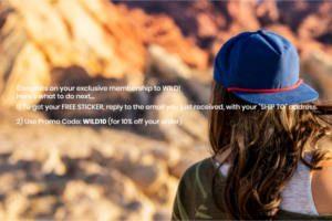 FREE Wild Hat Co Sticker
