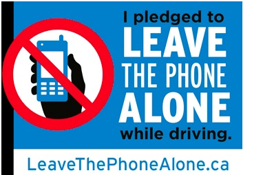 FREE car window sticker - LEAVE THE PHONE ALONE