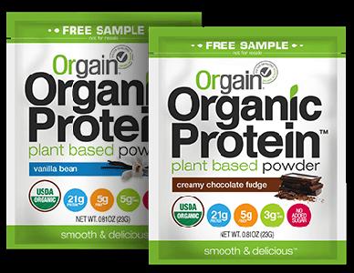 FREE Orgain Organic Protein Powder Sample
