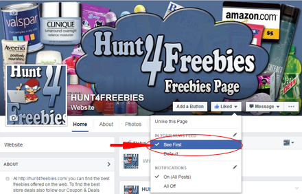 How To Make Sure You See Hunt4Freebies On Facebook