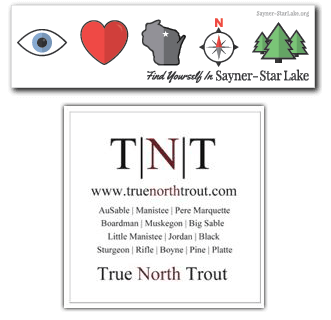 FREE Sayner-Star Lake and True North Trout Stickers