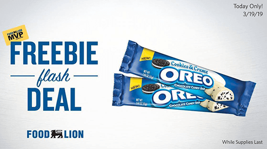 FREE Oreo Cookies & Creme Chocolate Candy Bar at Food Lion