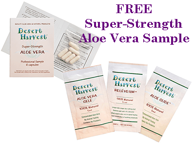 FREE Super-Strength Aloe Vera Samples