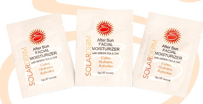 3 FREE SolarDerm After Sun Facial Moisturizer Samples