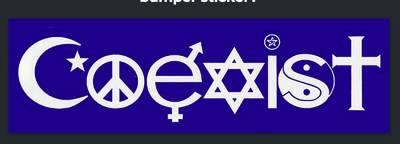 Free Coexist bumper sticker