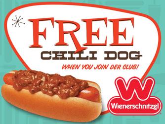 FREE Chili Dog at Wienerschnitzel
