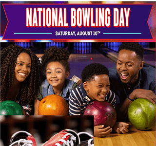 2 FREE Games of bowling on August 10th