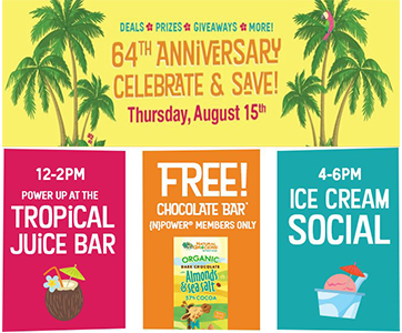 FREE Chocolate Bar & More at Natural Grocers on August 15th