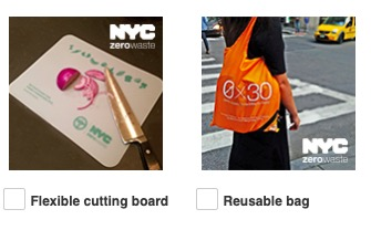 Free Flexible cutting board or Reusable Bag (New York Residents Only)