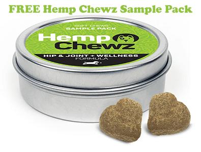 FREE Hemp Chewz Dog Treat Samples