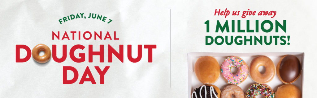 Free Doughnut at Krispy Kreme on June 7th