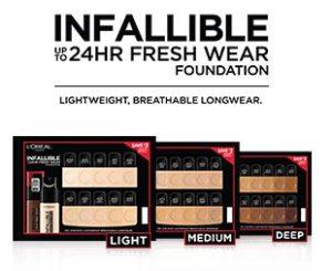 Free L'Oreal Infallible Fresh Wear Foundation Sample