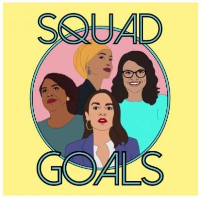 "free ""Squad Goals"" sticker"