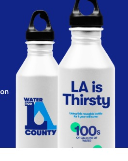 free LA is Thirsty water bottle (LA County Residents Only)