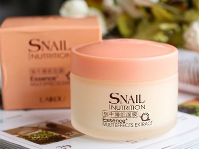 Snail Sleeping Mask Moisturizing Night Cream Anti Aging Wrinkle Cream for Free