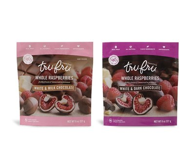 Tru Fru Frozen Fresh Raspberries in Premium Chocolate for Free