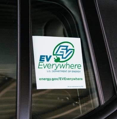 Free EV Everywhere Decal