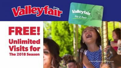Free Valleyfair Pre-K Pass (MN &WI) Residents