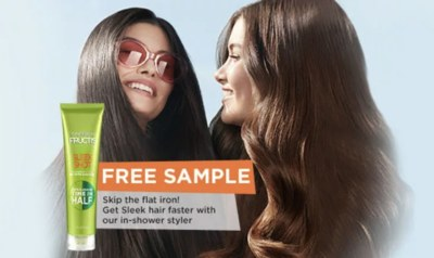 Free Sample of Fructis Sleek Shot from Garnier