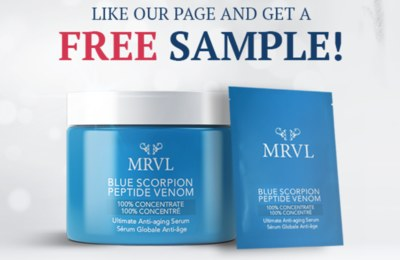 Free Blue Scorpion Peptide Venom Sample from MRVL