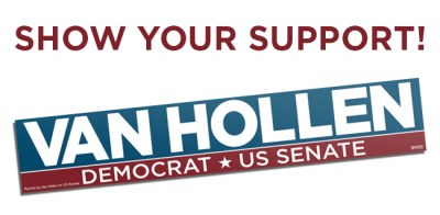 Free Van Hollen Bumper Sticker