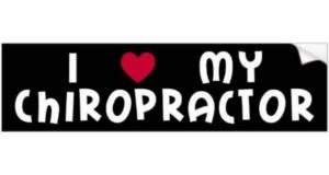 FREE I Heart My Chiropractor Bumper Sticker