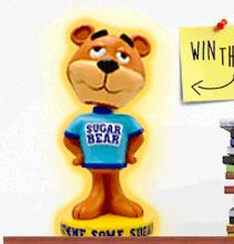 Win a sugar bear bobblehead