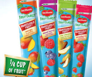 Free Sample of Del Monte Fruit Burst Squeezable Tubes