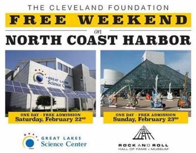 Free Family Weekend: Great Lakes Science Center and Rock and Roll Hall of Fame & Museum