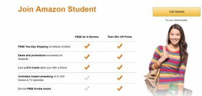 Join Amazon Student Free for 6 Months
