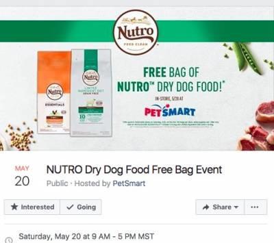 Free NUTRO Dry Dog Food at PetSmart (May 20)
