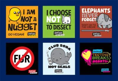 Free Animal Rights stickers