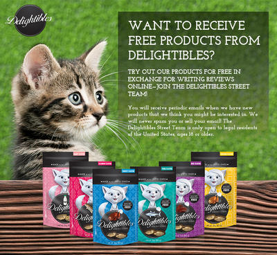 Possible Free Delightibles Cat Treat Products