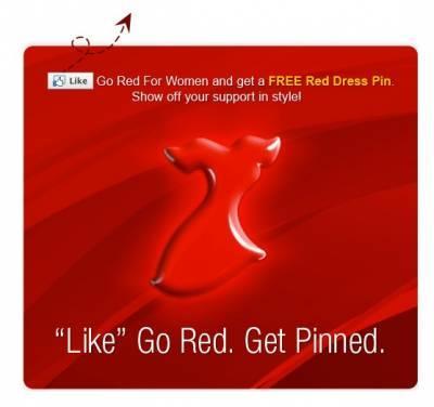 Free Red Dress Pin