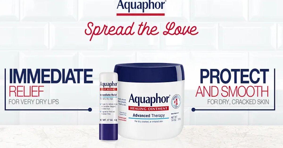 Free Aquaphor Body or Lip Product at Noon Est