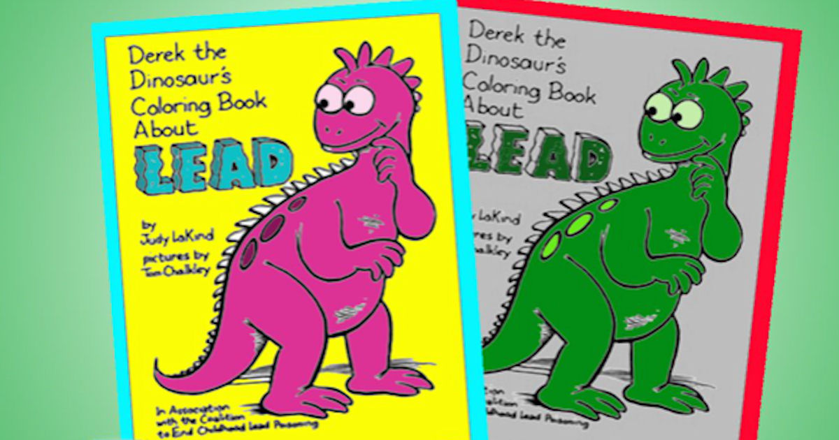 Free Derek The Dinosaur Coloring Book