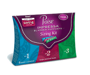 Poise Impressa Sizing Kit - Free at CVS After Coupon Deal