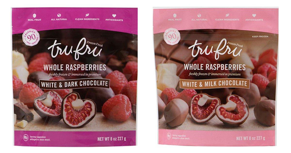 Free Tru Fru Frozen Fresh Raspberries in Premium Chocolate