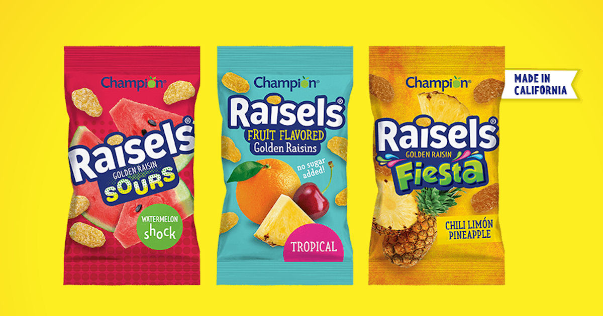 Free Raisels Golden Raisin Snack Samples - TX Only
