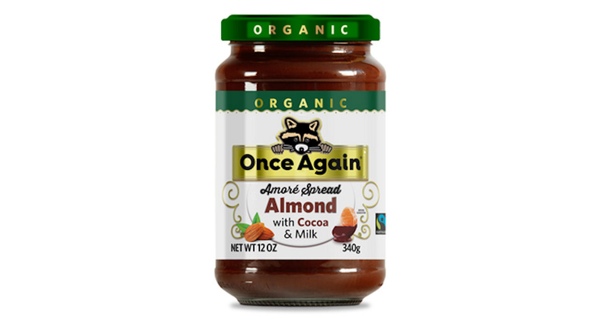 Free Once Again Organic Amore Almond Spread with Milk Chocolate