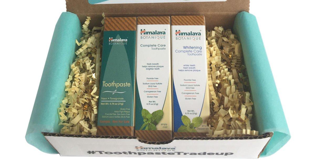 Free Himalaya Botanique Toothpaste Kit