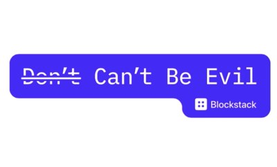 FREE Don't/Can't Be Evil Stickers