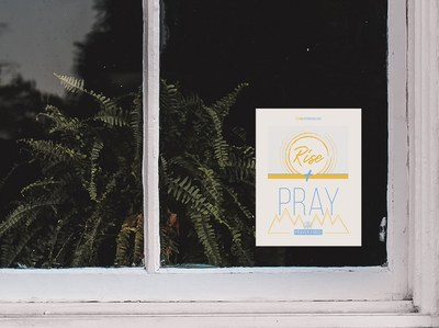 Free Prayer Force Window Cling
