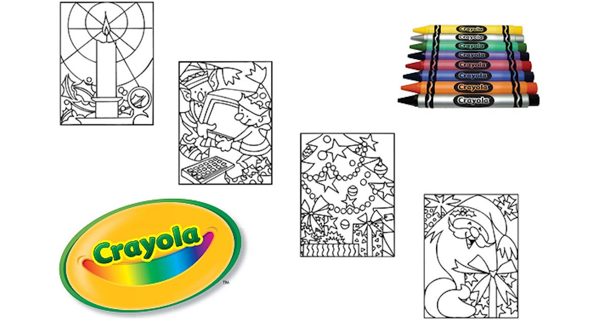 Free Crayola Christmas Coloring Pages