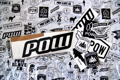 POW Gloves Sticker for Free