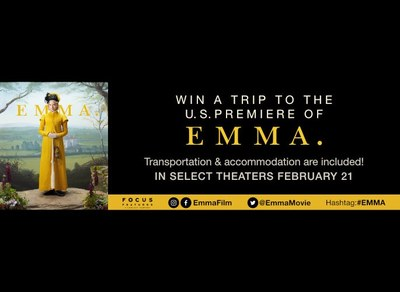 $4,900 Trip to the US Premiere of the Movie Emma - Sweepstakes