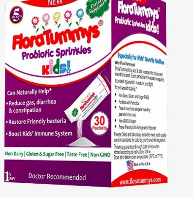 Free Sample of FloraTummys Sprinkle Powder Packets for Kids