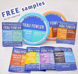 FREE Frau Fowler Tooth & Gum Powder Sample