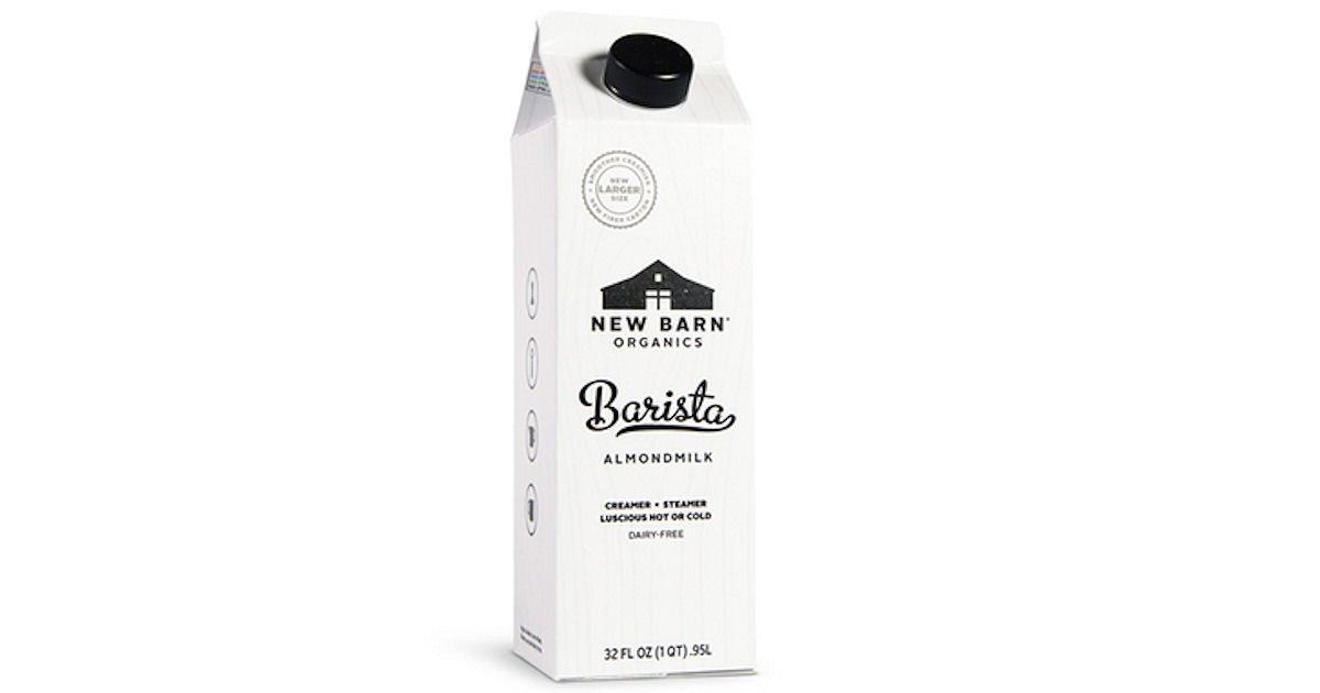 Free New Barn Organics Barista Almondmilk
